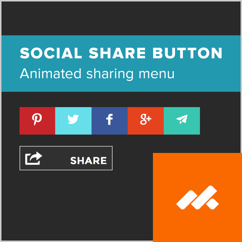 adobe muse social share button widget