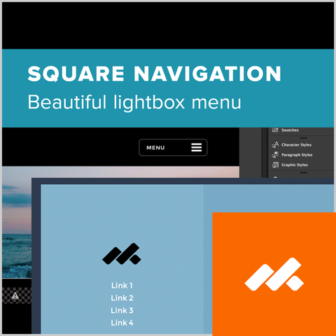 Animated Square Navigation Menu