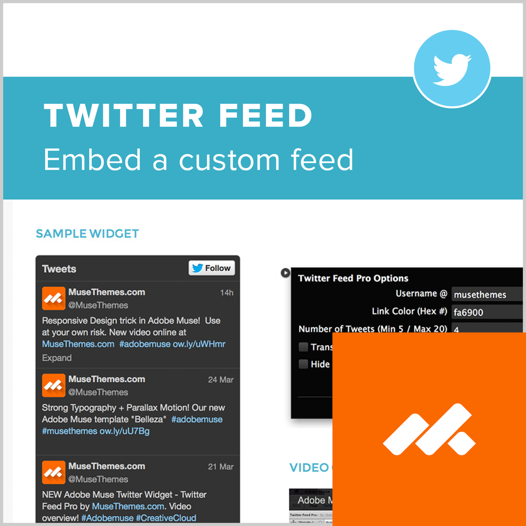 adobe muse twitter feed widget