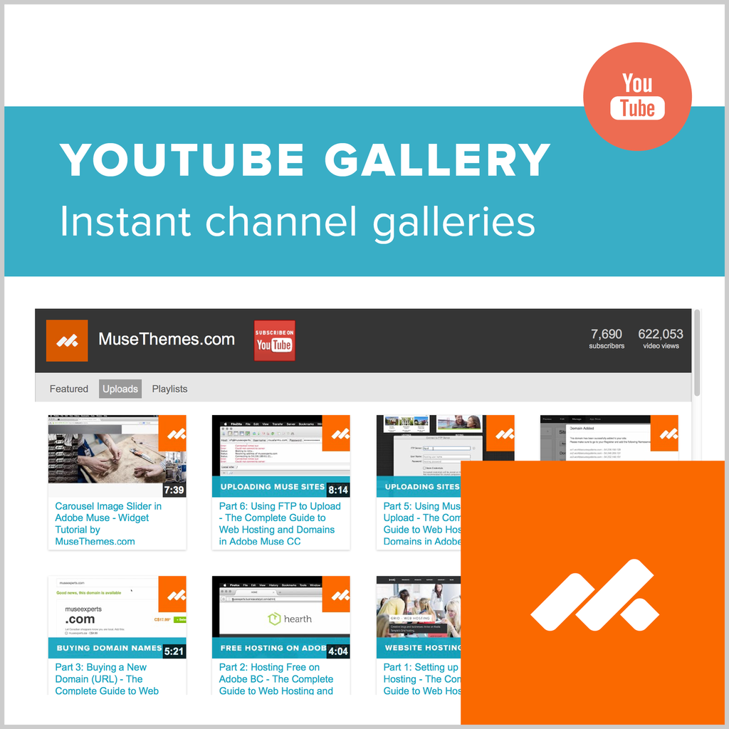adobe muse youtube video gallery widget