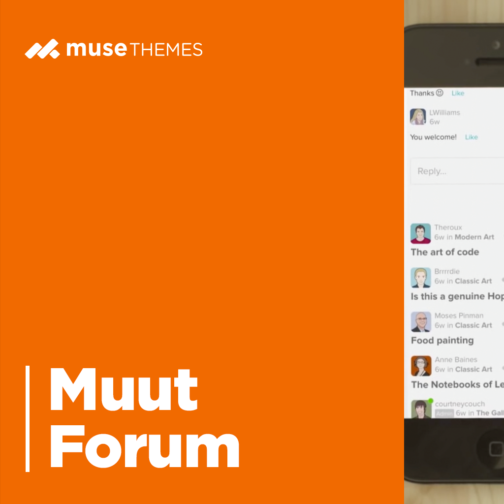 Muut Forum Adobe Muse Widget
