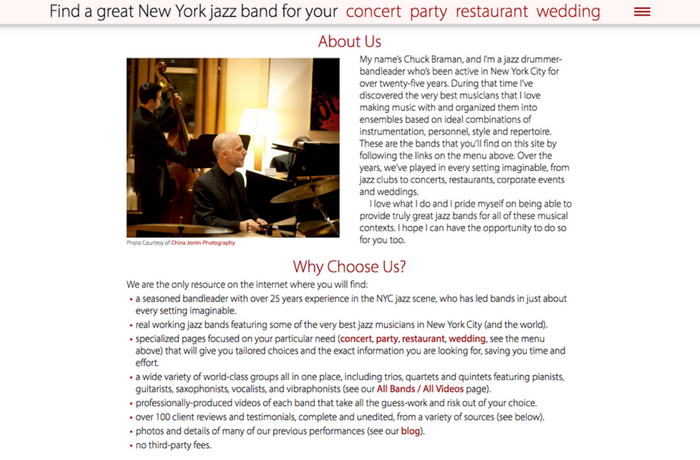 New York Jazz Bands, United States