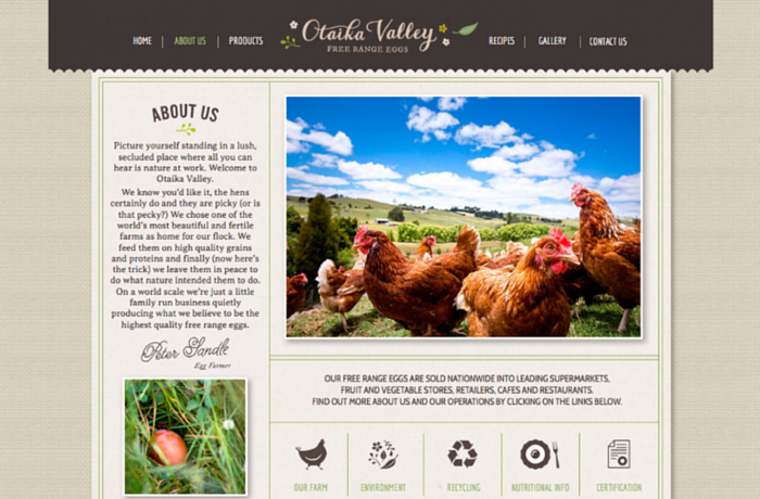 Otaika Valley Free Range Eggs, New Zealand