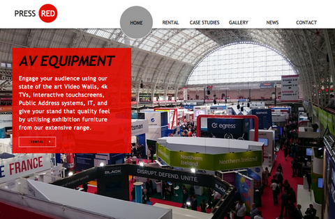 Press Red | AV Rental Equipment, United Kingdom