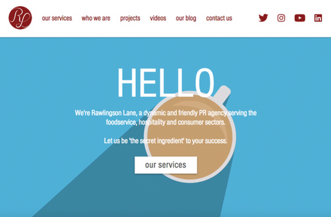 Rawlingson Lane - PR Company Website, United Kingdom