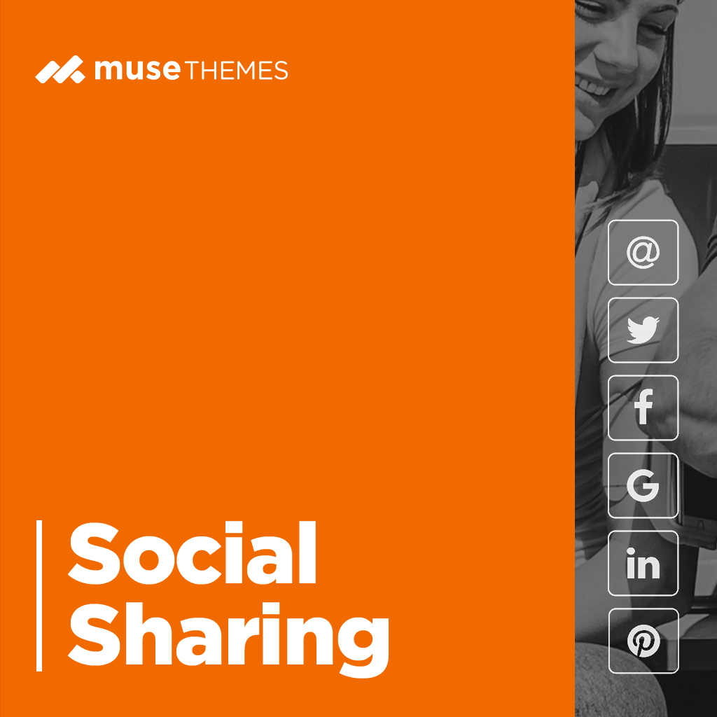 Social Sharing Group Adobe Muse Widget