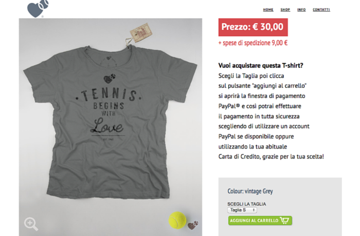 Tennis T-shirt collection, Italy