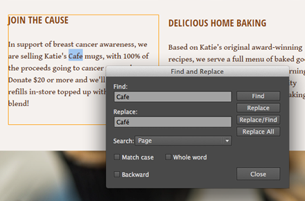 Find and replace in Adobe Muse CC (Oct-2014)