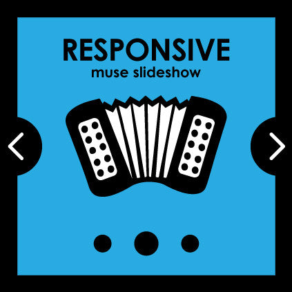 Responsive Adobe Muse Slideshow widget