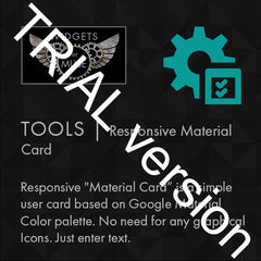 Tools | Responsive Material Card - Trial Version