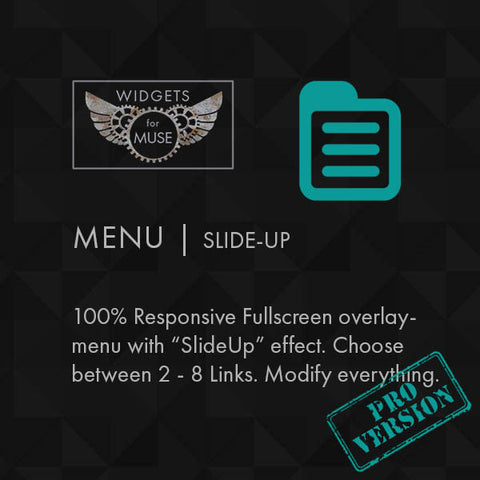 Menu | Slide-up Pro
