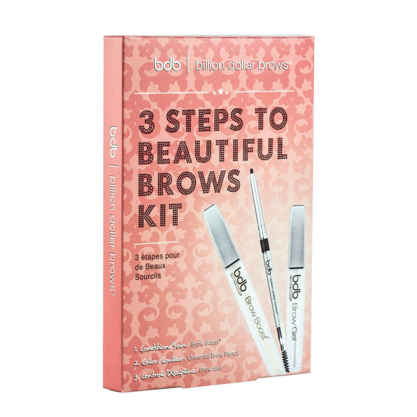 Billion Dollar Brows 3 Steps to Beautiful Brows Kit - Covet Cosmetics