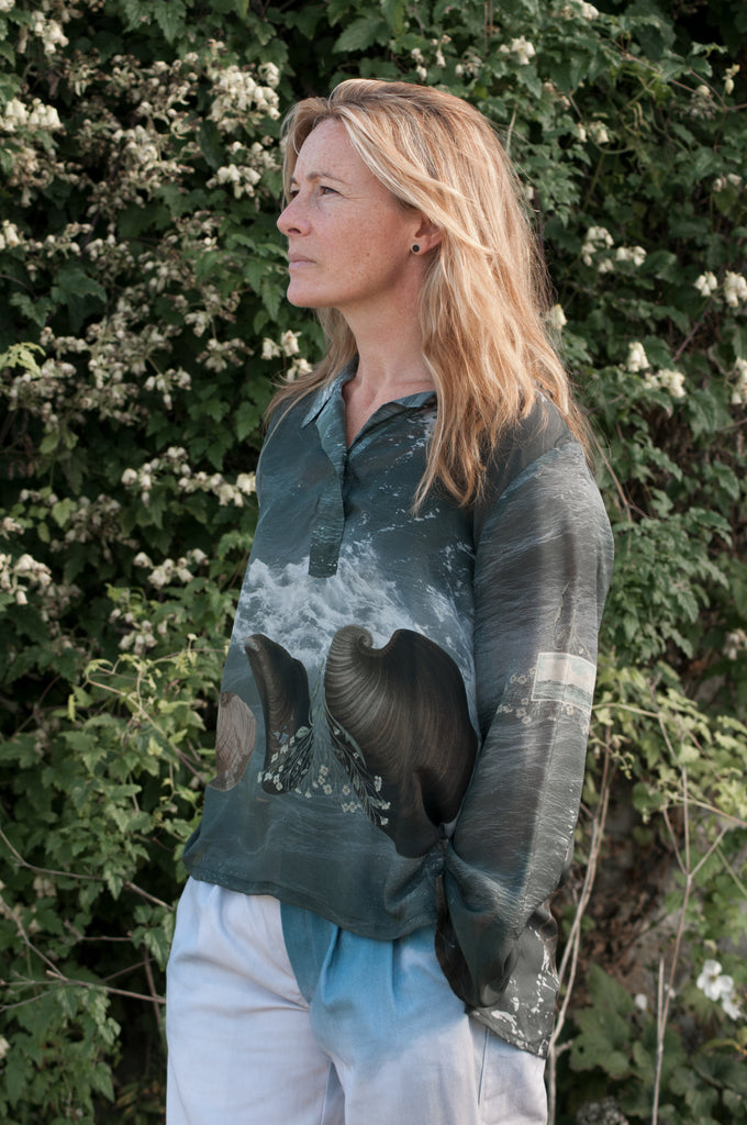 Pierscape sea & shell smock