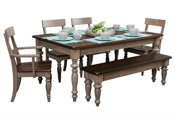Farmhouse Dining Room Set | Industrial Craftsman