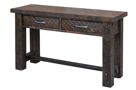 Timber Sofa Table Industrial Craftsman
