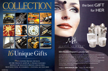 Marek Hewryk's Product Feature in Robb Report Collection Magazine - December 2011