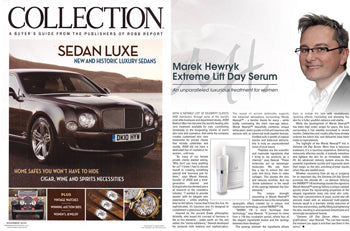 Marek Hewryk's Product Feature in Robb Report Collection Magazine - November 2010