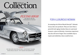Marek Hewryk Product Feature in Robb Report Collection Magazine - December 2014