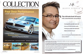 Marek Hewryk Product Feature in Robb Report Collection Magazine - May 2011