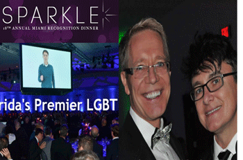 Marek Hewryk and Andrezej Lappo at the 18th Annual Sparkle Miami Recognition Dinner.