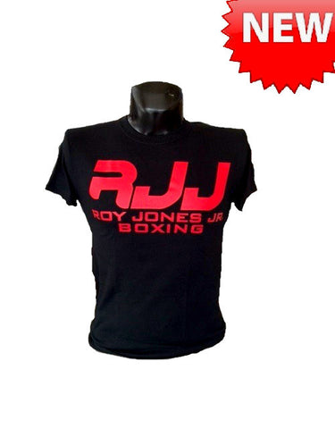 RJJ Black T-Shirt with Red Logo