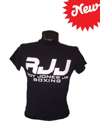 RJJ Black T-Shirt with White Logo
