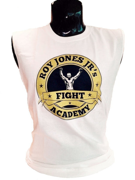 Roy Jones Jr Fight Academy Sleeveless White T-Shirt