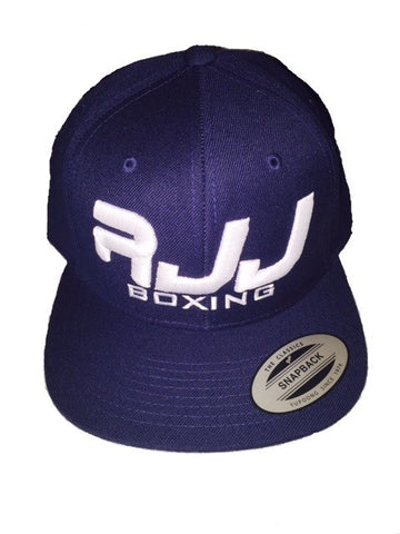 RJJ Navy Blue Hat (White)