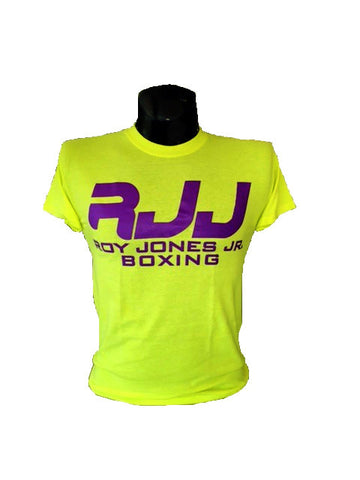 RJJ Yellow T-Shirt with Purple Logo