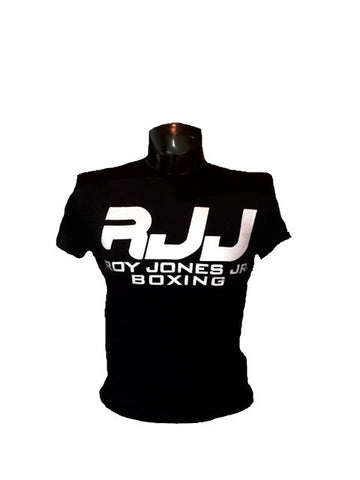 RJJ Black T-Shirt with Silver Logo