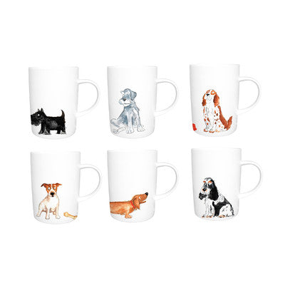 Kirkham ER2172 Dogs Lyric Lucy Mugs - Set of 6