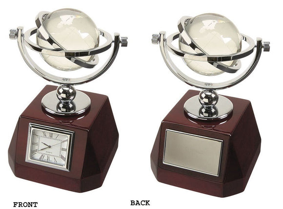 Elegance 15114 Clock w. Swivel Globe