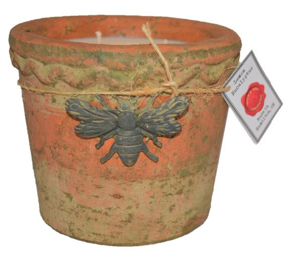 Wick'd Wax Bumble Bee Moss Pot Planter - Spring Scents