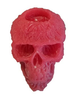 Wick'd Wax Skull Candle -2 Colours Available - Unscented