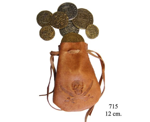 Denix Replica 715 Leather Bag with Coins