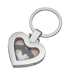 Alpine A411 Polished Heart Shaped Locket Key Ring, 6pc Grouping