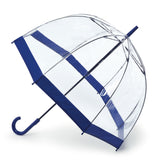 Fulton L041 Birdcage-1 Clear w. Colour Border Umbrella - Multiple Colours Available