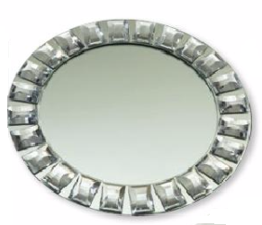 Elegance 33113 Diamond Rim Mirror Charger Plate
