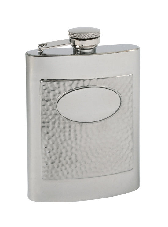 Flask P85-548 SS 2-Tone Hammered 6 oz. Flask