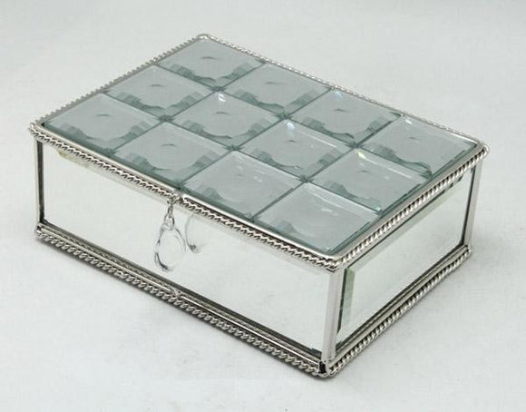 Elegance 35831 Multi-Faceted Mirrored Jewellery Box