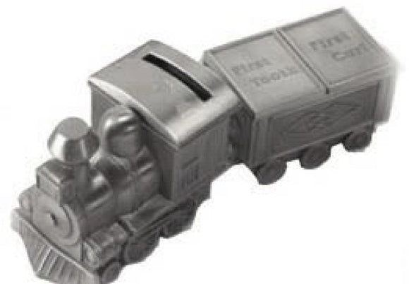 Elegance 88542 Pewter Plated Train Bank, Tooth, and Curl Box Set