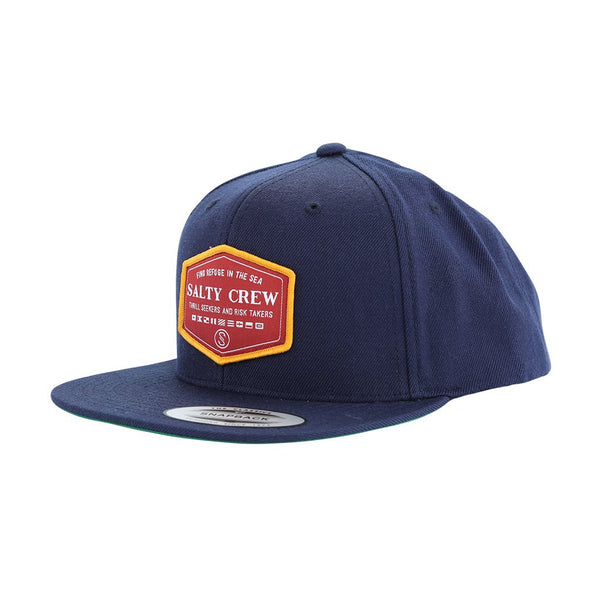 SALTY CREW LANDSMAN NAVY 6 PANEL