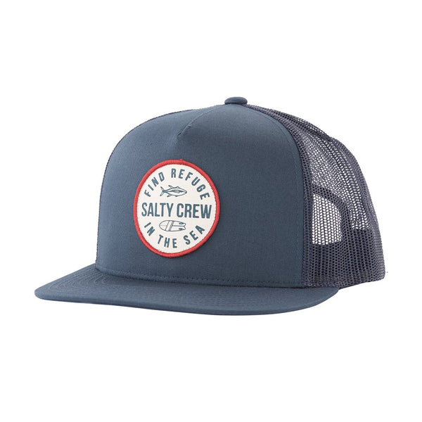 SALTY CREW TWIN FIN NAVY TRUCKER