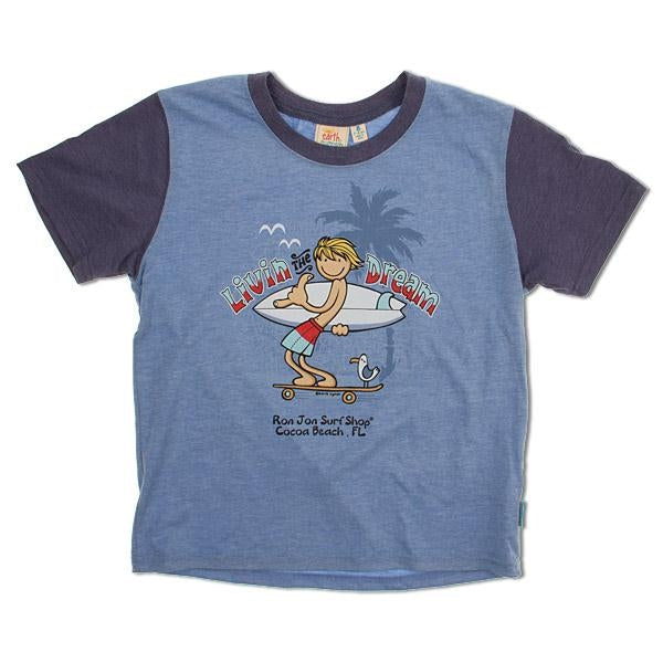 Boys T-shirt - Livin The Dream Earth Nymph