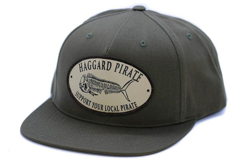 Haggard Pirate - DODO TRUCKER HAT - DARK GREEN