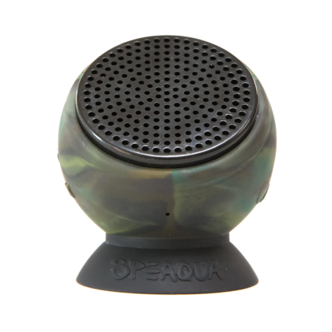 Speaqua - The Barnacle+ | Pro Model Albee Layer | Kelp Camo 4G The Barnacle | Aloha Blue Waterproof Speaker