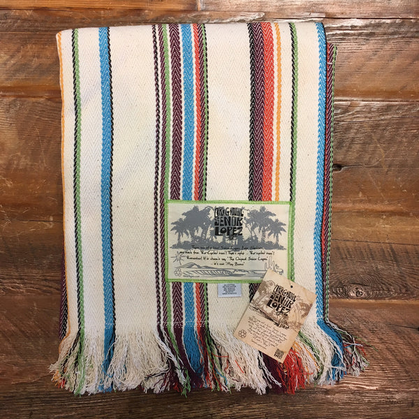 Señor Lopez Beach Blanket- Rainbow Stripes