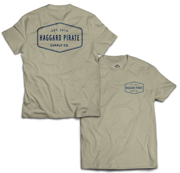 HAGGARD PIRATE - SUPPLY CO TEE - BONE