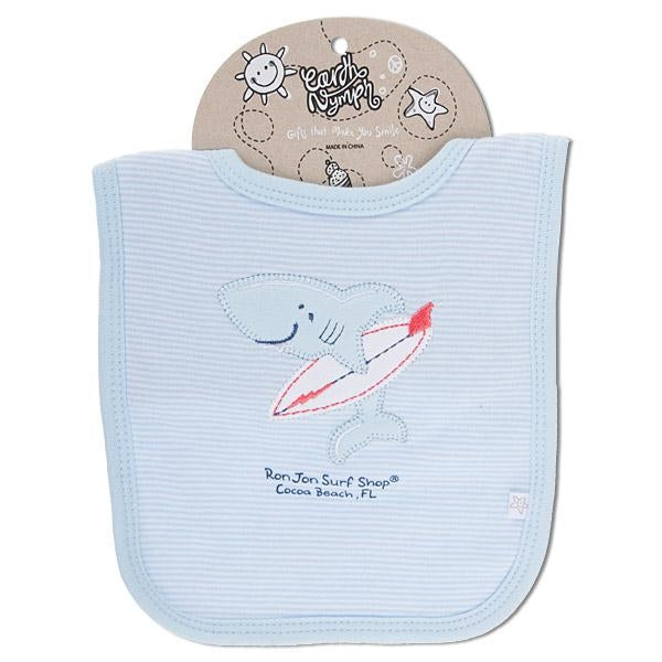Baby Boy Bib - Shark Board Baby Clothing Earth Nymph