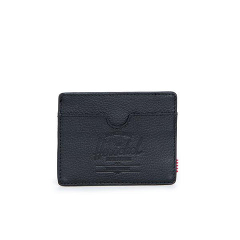 Herschel Charlie Wallet Pebbled Leather-Black